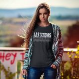 Las Vegas City of Sin Skyline and Reflection T-Shirt