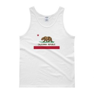 California Republic Surfing Bear State Flag Tank top