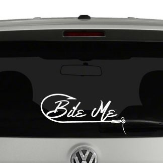 Bite Me Fishing Lovers Hook Vinyl Decal Sticker