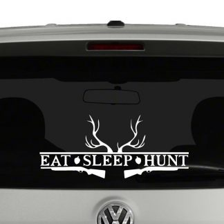Eat Sleep Hunt Hunters Vinyl Decal Sticker