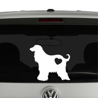 Afghan Hound Dog Heart Love Vinyl Decal Sticker