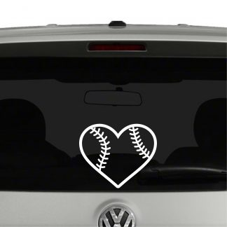 Baseball Heart Shape Baseball Love Vinyl Decal Sticker