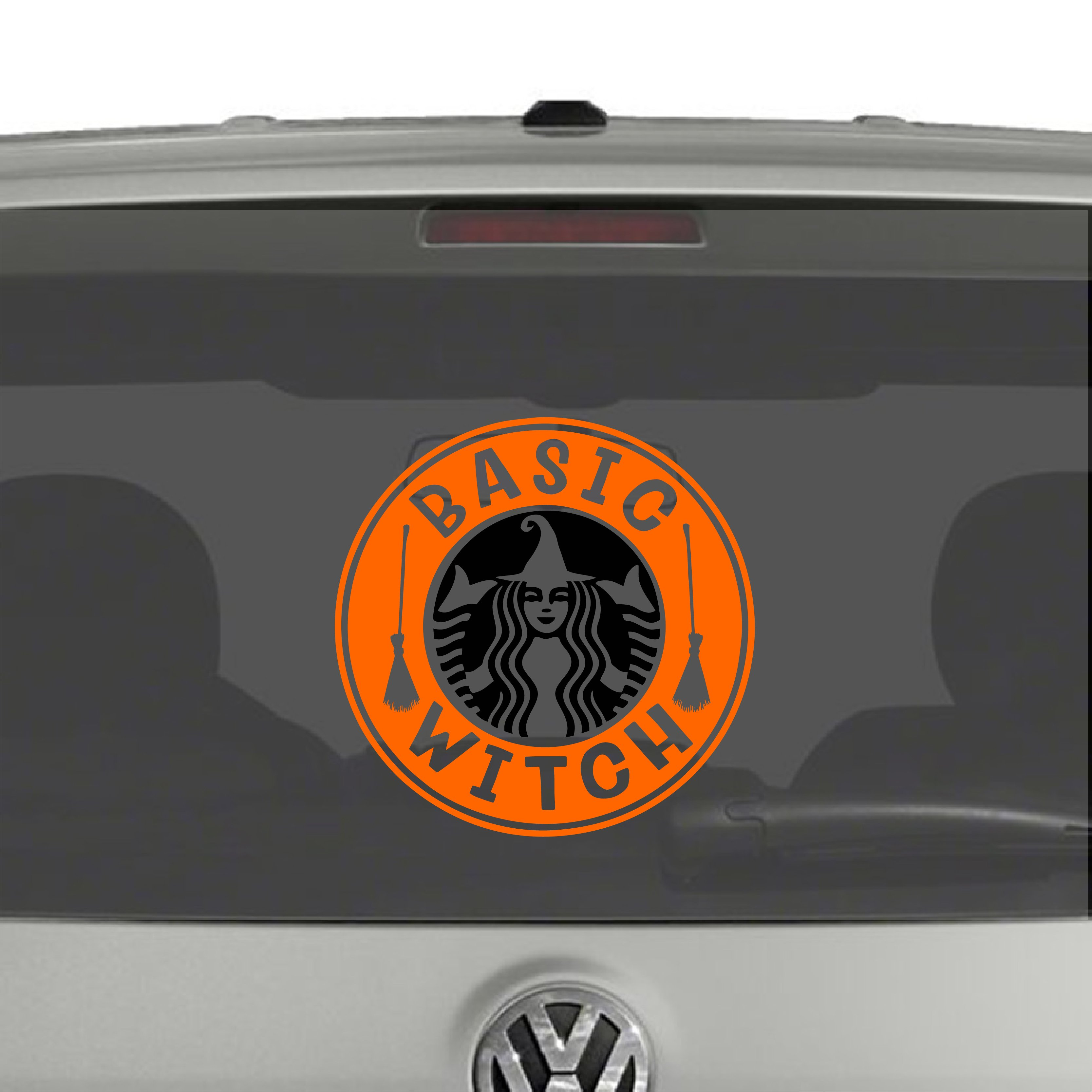 Basic Witch Starbucks Parody Vinyl Decal Sticker