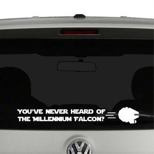 You've never heard of the Millennium Falcon Star Wars Vinyl Decal Sticker