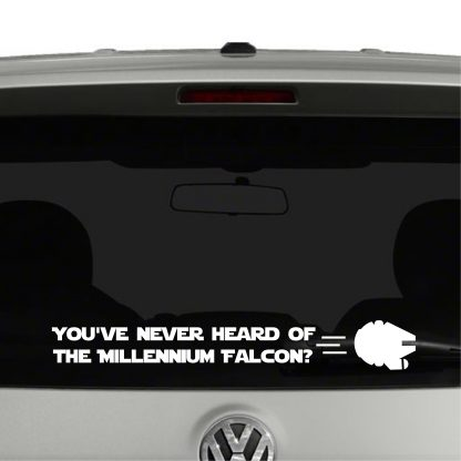 You've never heard of the Millennium Falcon Star Wars Vinyl Decal Sticker