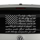 American Flag Pledge of Allegiance Vinyl Decal Sticker