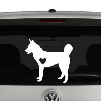 Husky Dog Heart Love Vinyl Decal Sticker