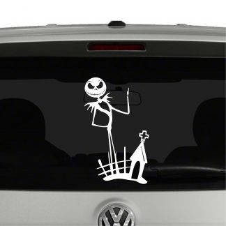 Jack Skellington Grave Nightmare Before Christmas Inspired Vinyl Decal Sticker