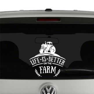 Life Is Better On The Farm Vinyl Decal Sticker