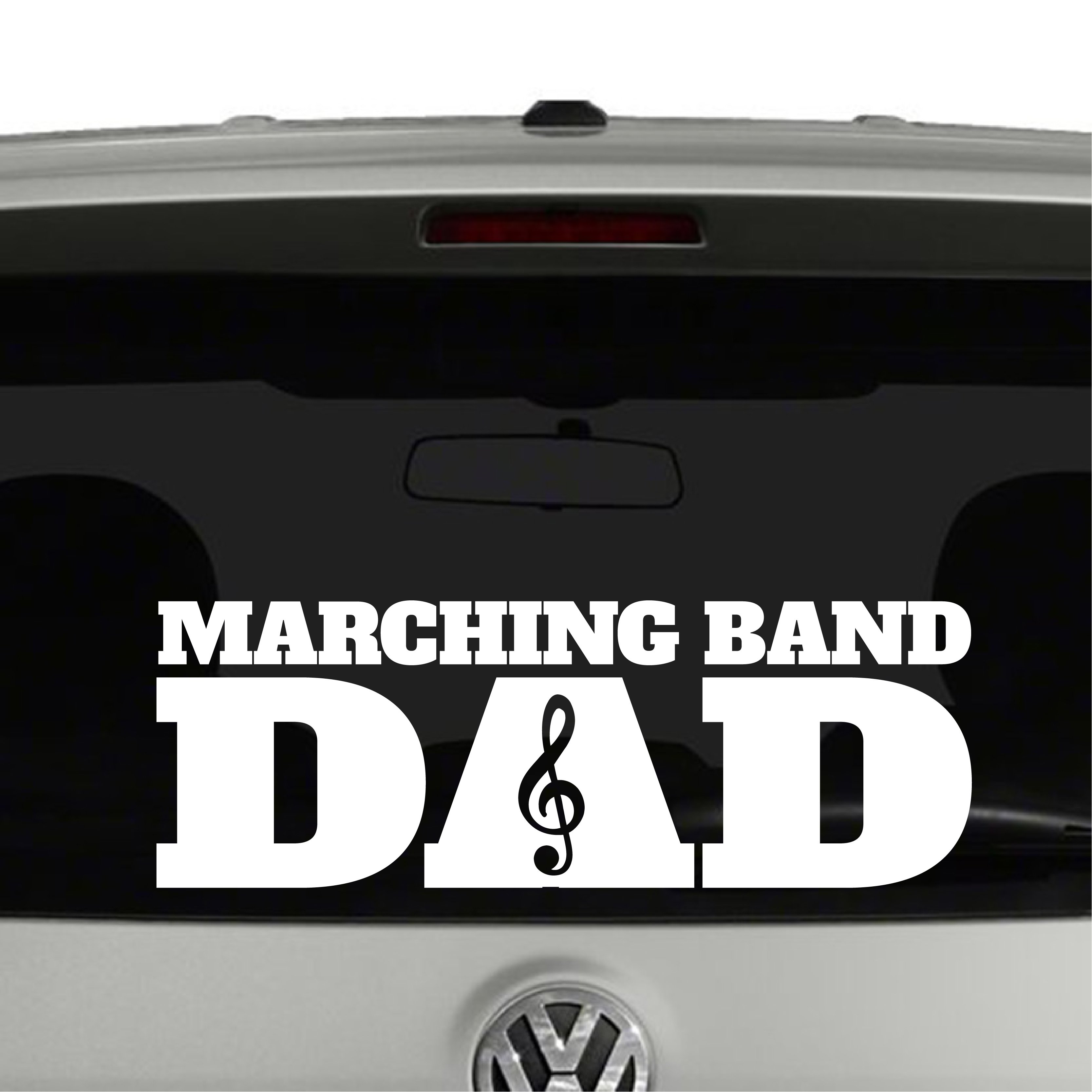 Marching Band DAD Treble Vinyl Decal Sticker