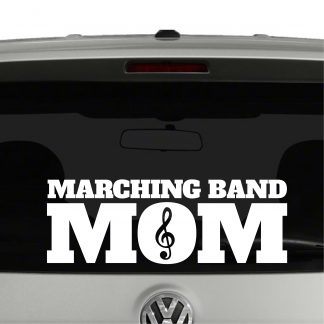 Marching Band Mom Treble Vinyl Decal Sticker