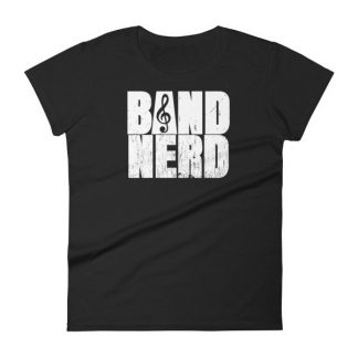 Band Nerd Funny Marching Band Geek Treble Clef Woman's T-Shirt