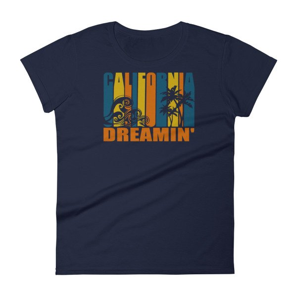 California Dreamin 39 Vintage Retro Style Sun And Surf Woman