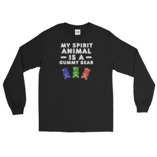 My Spirit Animal Is A Gummy Bear Fun Colorful Candy Long Sleeve T-Shirt