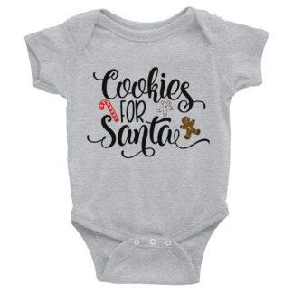Cookies For Santa Christmas Infant Bodysuit