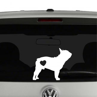 Pug Dog Puppy Heart Love Vinyl Decal Sticker