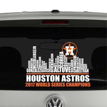 Houston Astros Team Skyline World Champions Vinyl Decal Sticker