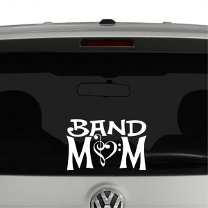Band Mom Marching Band Clef Vinyl Decal Sticker