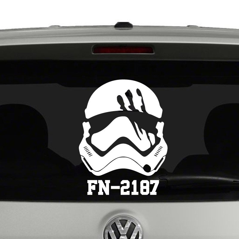 Finn stormtrooper fn 2187 star wars inspired vinyl decal sticker