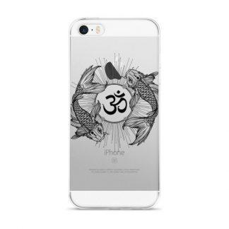 Koi Fish Yin Yang Aum Om Symbol iPhone Case