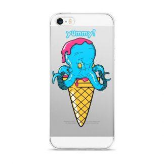 Yummy Octopus Ice Cream Cone Funny Sea Life iPhone Case