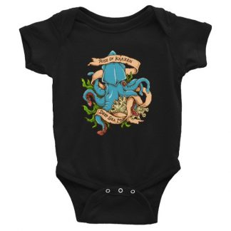 Rise Of Kraken Old School Tattoo Octopus Sea Monster Infant Bodysuit