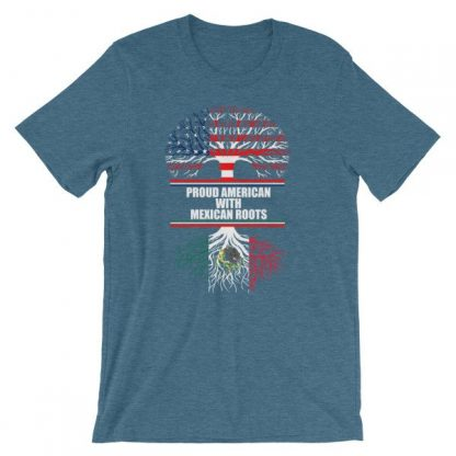 Proud American With Mexican Roots Heritage T-Shirt