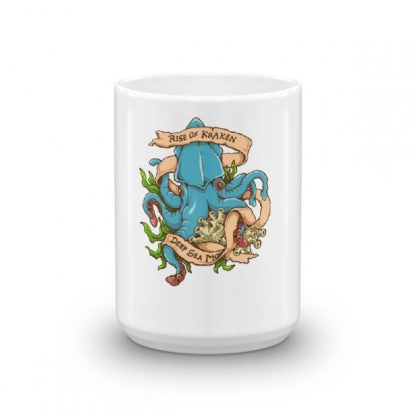 Rise Of Kraken Old School Tattoo Octopus Sea Monster Coffee Mug