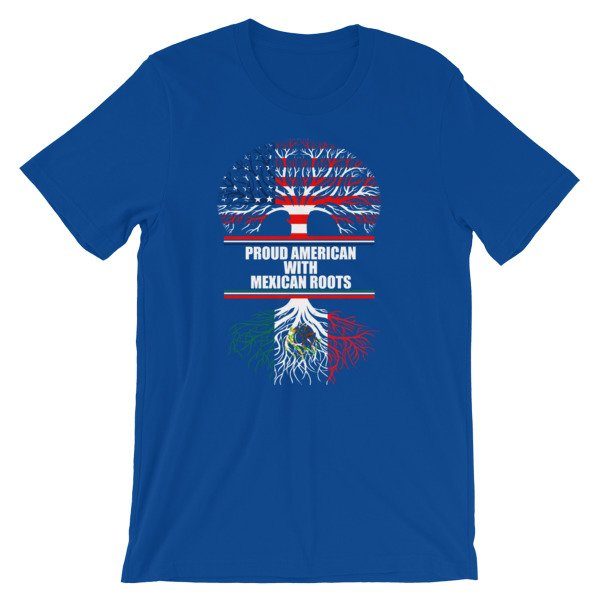 Proud american with mexican roots heritage t shirt for 2017 mexican heritage night t shirt