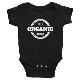 100% Organic Human Organic Lifestyle Infant Bodysuit