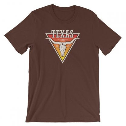 Texas The Lone Star State Longhorn Est. 1845 State Short-Sleeve Unisex T-Shirt