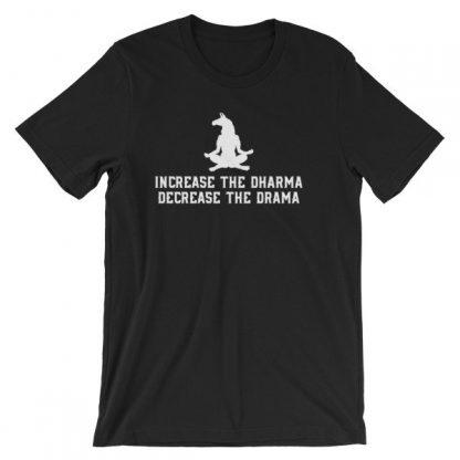 Increase the Dharma Decrease the Drama Meditating Llama Short-Sleeve Unisex T-Shirt