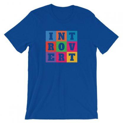 INTOVERT Fun Colorful But Not A People Person Short-Sleeve Unisex T-Shirt