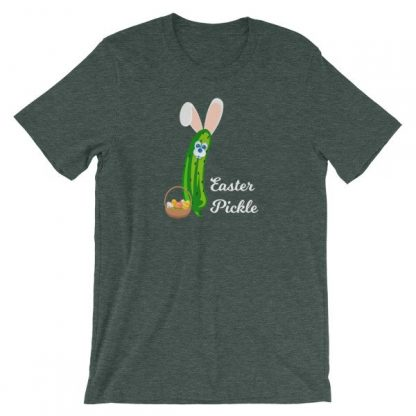 Easter Pickle Funny Easter Bunny Mash-up Short-Sleeve Unisex T-Shirt