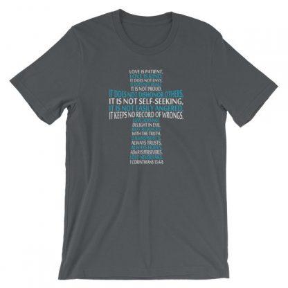 Love is Patient Love is Kind Bible Verse Cross Short-Sleeve Unisex T-Shirt