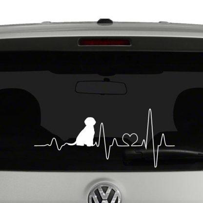 Puppy Heartbeat Dog Lover Heart Vinyl Decal Sticker