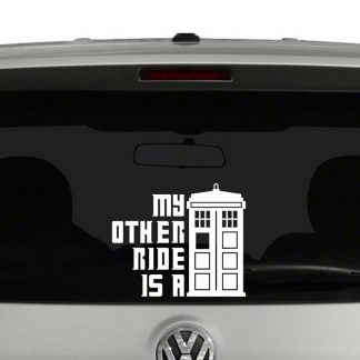 My Other Ride Is A Tardis Doctor Who Inspired Vinyl Decal Sticker