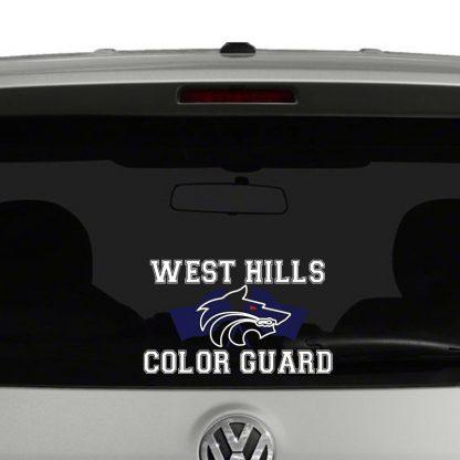 West Hills High School Color Guard Vinyl Decal Sticker