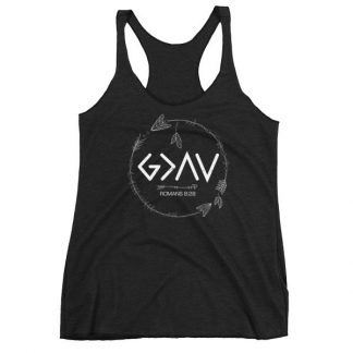 God is Greater Than the Highs and Lows Christian Women's Racerback Tank