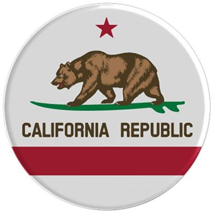 California Republic Surfing Bear State Flag - PopSockets Grip