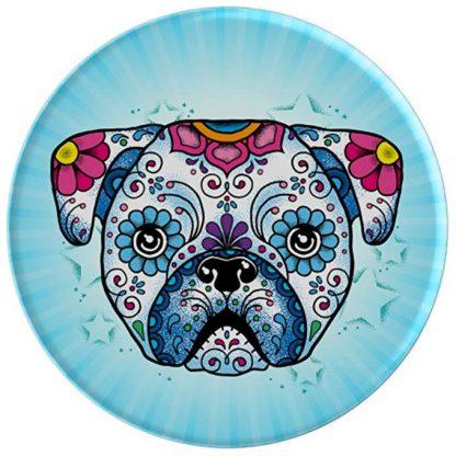 Pug Sugar Skull Day of The Dead Pug Dog Lovers - PopSockets Gri