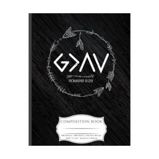 Composition Book: God Is Greater Than The Highs and Lows College Ruled Lined 100 Pages Book (7.44 x 9.69)