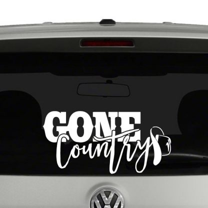 Gone Country Cowboy Hat Vinyl Decal Sticker