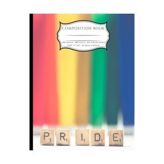 PRIDE Rainbow Composition Book: 4x4 Graph Paper Pages Book