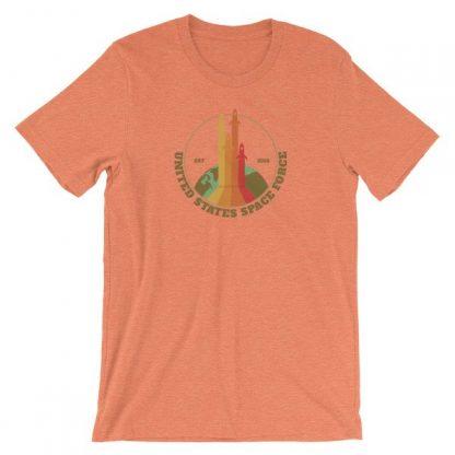 Space Force Est 2018 Retro Vintage Styled Rockets Short-Sleeve Unisex T-Shirt
