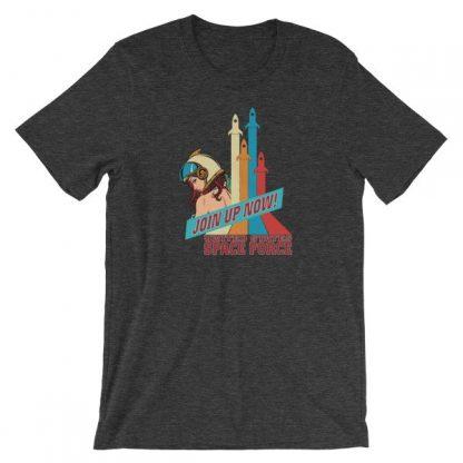 Space Force Retro Vintage Comics Space Girl Short-Sleeve Unisex T-Shirt
