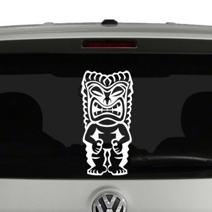 Tiki Totem Hawaiian Vinyl Decal Sticker