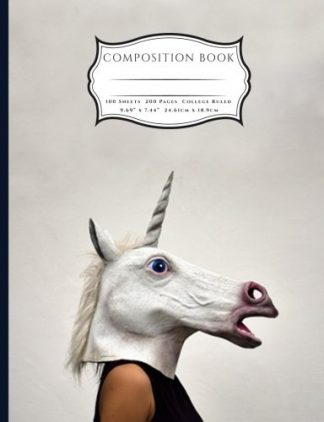 Strange Unicorn Head Costume Composition Book