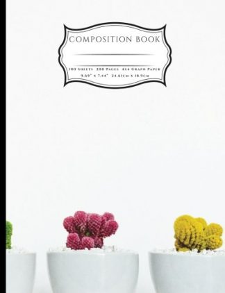 Colored Succulent Cactus Composition Book
