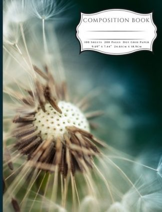 If you love images of nature you'll love this composition book with a beautiful macro photograph of a dandelion with seeds in the wind.